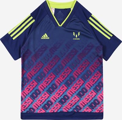ADIDAS PERFORMANCE Funktionsshirt 'Messi Iconic' in dunkelblau / gelb / pink, Produktansicht