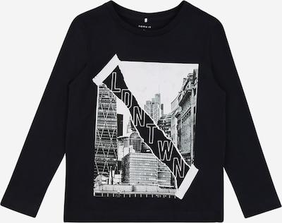 NAME IT T-Shirt 'TOWN' en bleu foncé / gris / blanc, Vue avec produit