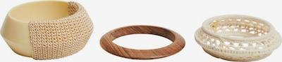 MANGO Armband 'REMY' in de kleur Beige / Bruin / Wolwit, Productweergave