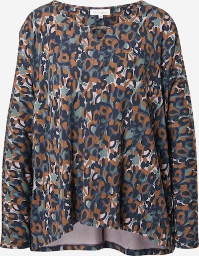 Thought Shirt 'MADELYN' in beige / blau / navy / kupfer / mint, Produktansicht