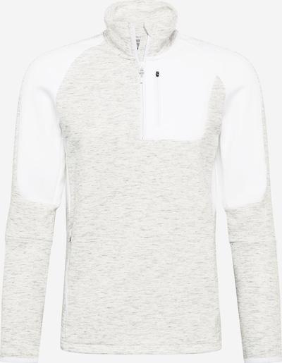 PUMA Sportsweatshirt 'EVOSTRIPE' in hellgrau / wollweiß, Produktansicht