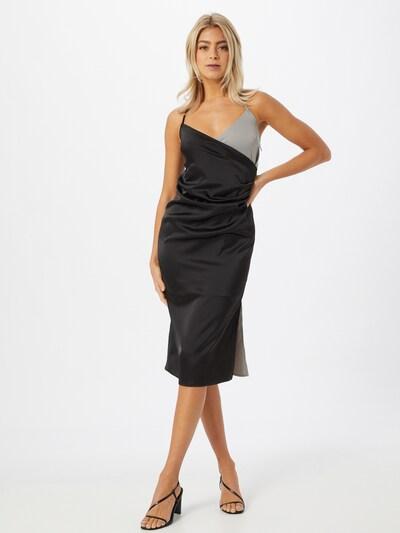 Unique21 Kleid in silbergrau / schwarz, Modelansicht