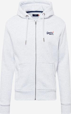 Superdry Sweatjacke in Weiß