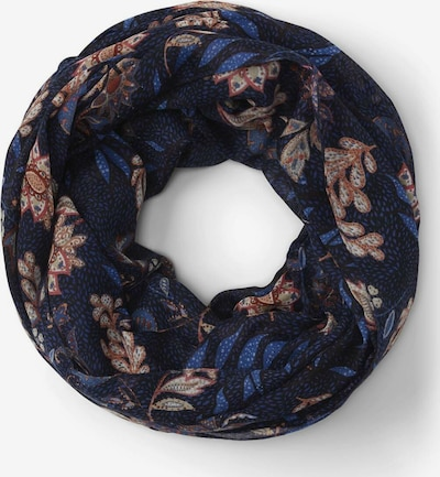 TOM TAILOR Sjaal in de kleur Beige / Chamois / Marine / Roestrood, Productweergave