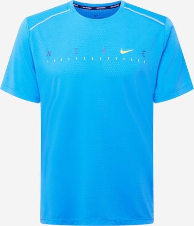 NIKE Functioneel shirt 'Miler Future Fast' in de kleur Blauw / Turquoise / Neongeel, Productweergave