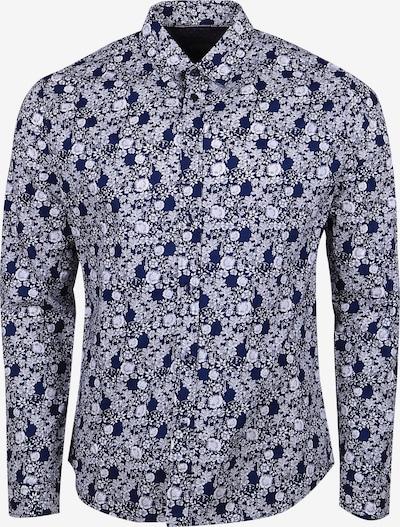 Le Temps Des Cerises Langarmhemd 'POLD' in blau / weiß, Produktansicht
