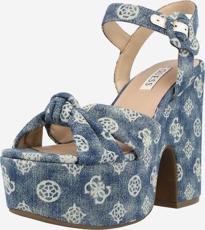 GUESS Sandale 'Rion' in blau / weiß, Produktansicht