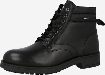 Boots stringati di Tommy Jeans in nero