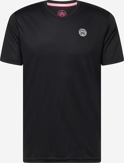 BIDI BADU Shirt 'Ted' in schwarz / weiß: Frontalansicht