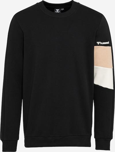 Hummel Sportsweatshirt 'AIDAN' in hellbeige / schwarz / weiß, Produktansicht