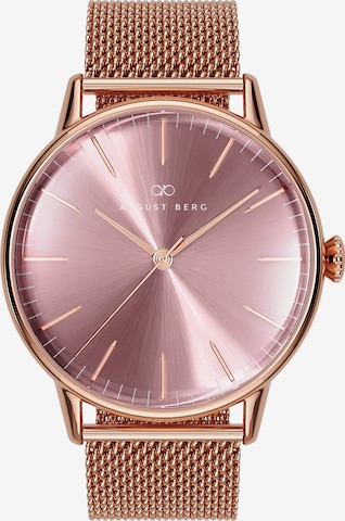 August Berg Analog Watch 'Serenity Ash & Orchid 40mm' in Gold