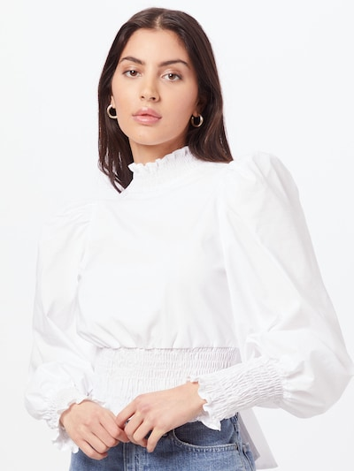 Gina Tricot Blouse 'Natha' in de kleur Offwhite, Modelweergave