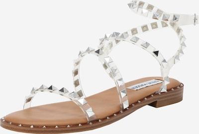 Sandale cu baretă 'Travel' STEVE MADDEN pe argintiu / transparent, Vizualizare produs