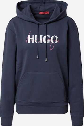 HUGO Sweatshirt 'Dasara' in nachtblau / hellpink / weiß, Produktansicht
