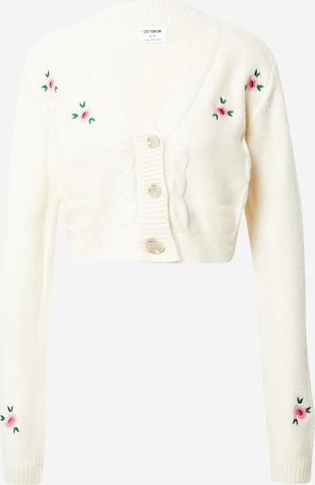 Geacă tricotată Cotton On pe verde închis / roz / roz deschis / alb, Vizualizare produs