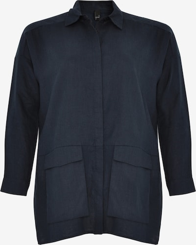 Yoek Bluse in dunkelblau, Produktansicht
