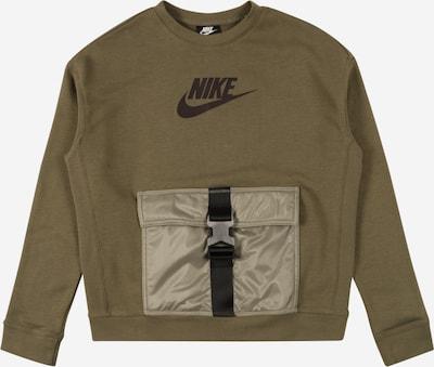 Nike Sportswear Sweatshirt in Dark brown / Olive / Black, Item view