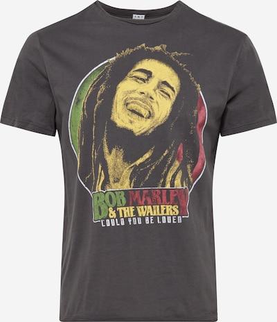 AMPLIFIED T-Shirt 'BOB MARLEY WILL YOU BE LOVED' en jaune / gris foncé / vert clair / rouge, Vue avec produit