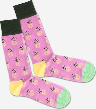 DillySocks Calcetines 'Pineapple Lila' en mezcla de colores / rosa, Vista del producto