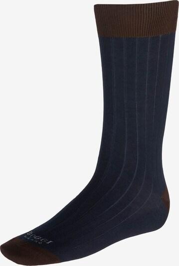 Boggi Milano Socken in navy / schoko, Produktansicht