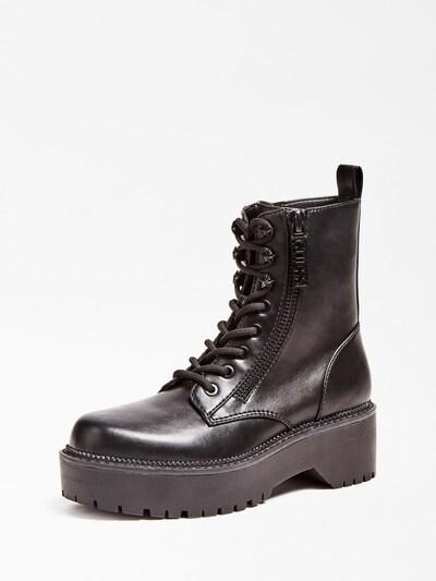 Suvarstomieji kulkšnis dengiantys batai 'Tayte' iš GUESS , spalva - juoda, Prekių apžvalga