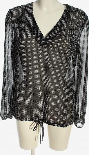 S.OLIVER PREMIUM Schlupf-Bluse in L in hellgrau / schwarz / wollweiß, Produktansicht