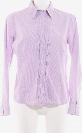 Sandra Pabst Langarm-Bluse in M in rotviolett / weiß, Produktansicht