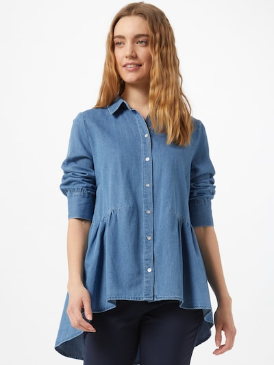 ONLY Blouse 'Canberra' in Light blue, View model
