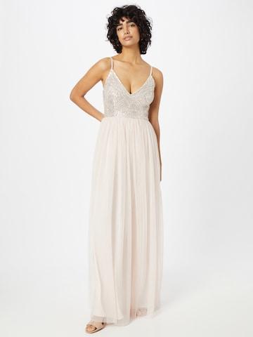 LACE & BEADS Večerné šaty 'Magnolia' - ružová