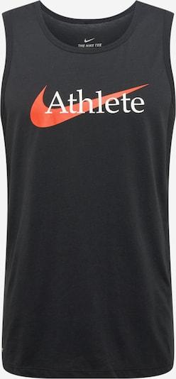 NIKE T-Shirt fonctionnel en rouge clair / noir / blanc, Vue avec produit