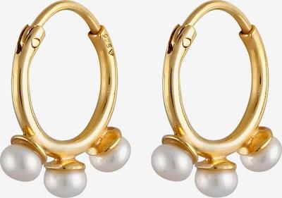 ELLI PREMIUM Oorbellen in de kleur Goud / Parelwit, Productweergave