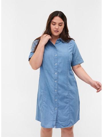Zizzi Shirt Dress 'Jdina' in Blue