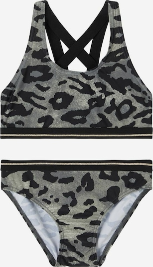 NAME IT Bikini in grau / schwarz, Produktansicht