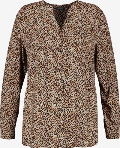 SAMOON Bluse in braun / hellbraun / schwarz, Produktansicht