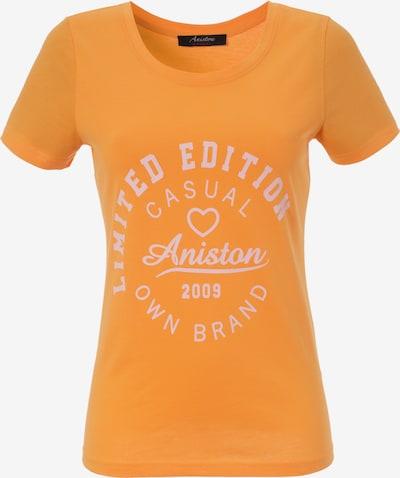 Aniston CASUAL T-Shirt in orange / weiß, Produktansicht