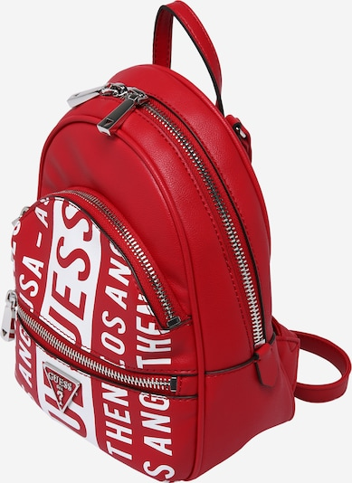 GUESS Backpack in Blood red / White, Item view