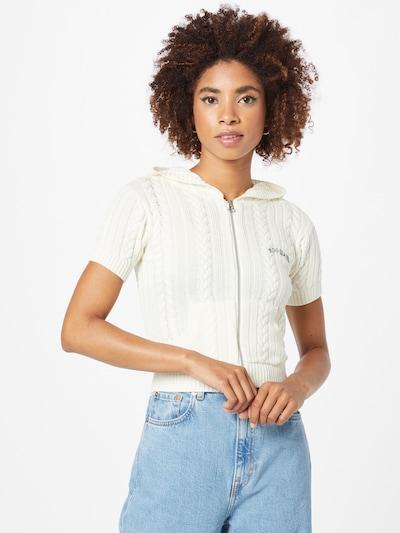 BDG Urban Outfitters Strickjacke in weiß, Modelansicht