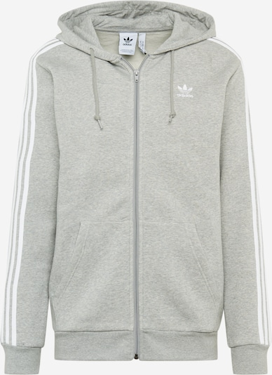 ADIDAS ORIGINALS Sweatjacke in grau / weiß, Produktansicht