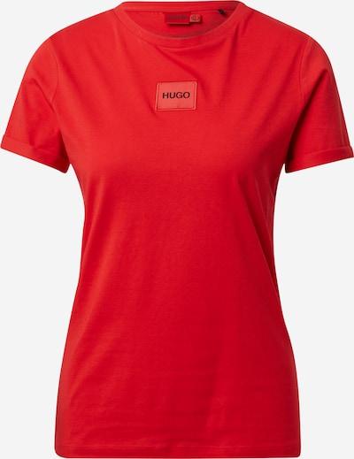 HUGO Majica u vatreno crvena / crna, Pregled proizvoda