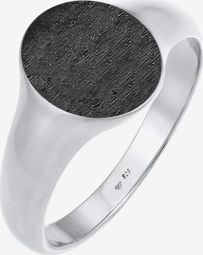 KUZZOI Siegelring in schwarz / silber, Produktansicht
