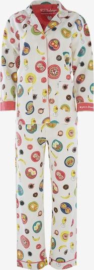 PJ Salvage Pyjama ' Cozy Casual ' en mélange de couleurs / blanc cassé, Vue avec produit