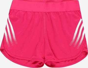 Pantaloni sport de la ADIDAS PERFORMANCE pe roz