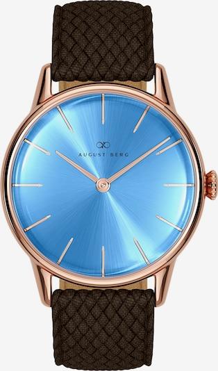 August Berg Uhr 'Serenity Sky Blue Dark Brown Perlon 32mm' in blau, Produktansicht