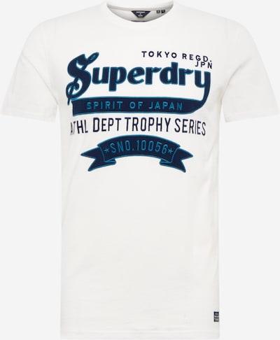 Superdry T-Shirt en bleu / bleu foncé / blanc, Vue avec produit