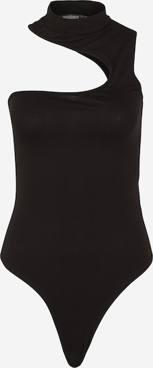 Marškinėliai-glaustinukė iš Missguided (Petite) , spalva - juoda: Vaizdas iš priekio