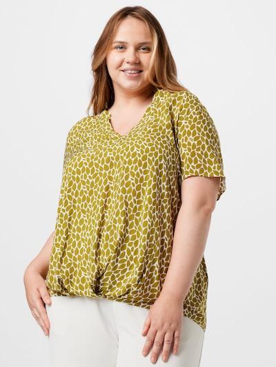 SAMOON Bluse in hellgrün / weiß, Modelansicht