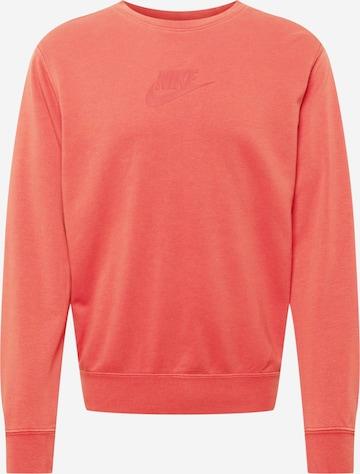 Nike Sportswear Sweatshirt in Red