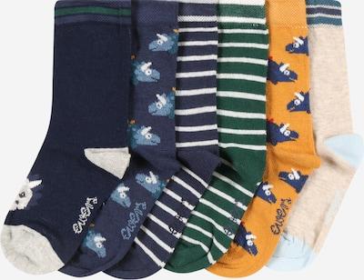 EWERS Sokken 'Dino' in de kleur Beige / Marine / Navy / Groen / Gemengde kleuren / Sinaasappel, Productweergave