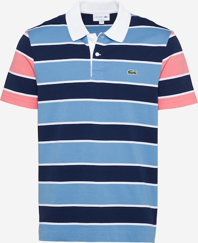 LACOSTE T-Shirt en bleu marine / bleu clair / rose / blanc, Vue avec produit
