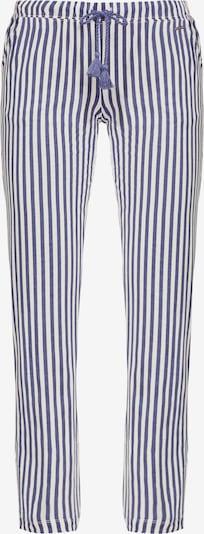 LASCANA Pyjamahose in creme / dunkelblau, Produktansicht
